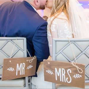 Other - Me & Mrs Hanging Chair Signs